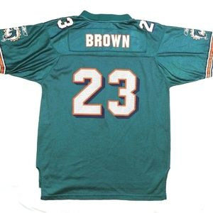 Reebok  Miami Dolphins #23 Brown NFL On Field Equi